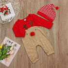 Lovely Baby Boys Girls Newborn Xmas Clothes Romper Bodysuit Jumpsuit Outfit Set