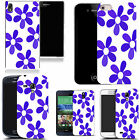 hard durable case cover for iphone & other mobile phones - azure daisy
