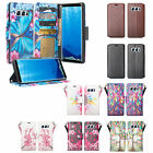 Samsung Galaxy Note 8 Magnetic Flip Fold Wallet Case | TGlass Screen Protector