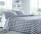 Behrens Navy & White Coastal Stripe with White Reverse Cotton Quilt Set