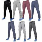 Mens Kangol Branded Trousers Slim Fit Cuffed Jog Pants Bottom Fleece Joggers