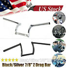 "7/8"" Motorcycle Handlebars Z Bar Drag Bars For Harley Honda Yamaha Suzuki image"