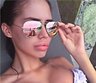 NEW AUTHENTIC RAY BAN AVIATORS Gold Frame Copper Pink Mirrored Lens 58mm