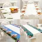 PVC Cartoon Merry Christmas 110 Table Cloth 180cm Rectangular Printed Disposable