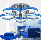 Modern Simple Fashion Stainless Steel Acrylic Flush Mount Ceiling Light 5 Lights