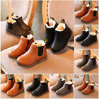 Children Boy Girls Winter Fur Lined Warm Shoes Kids Ankle Boots Chelsea Shoes