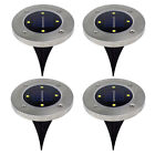 4 LED Buried Solar Power Light Under Ground Lamp Outdoor Path Way Garden Decking