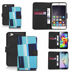 Black pu leather wallet case cover for most mobiles - glutinous
