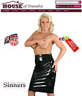 PVC Sexy Pencil Skirt in Black Red or Pink - (S1404)