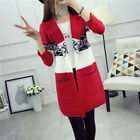 Fashion Korean Womens Ladies Knitted Sweater Long Cardigan Outwear Coat Jacket