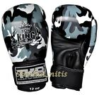 BOXING GLOVES TOP KING TKBGEM CAMOUFLAGE GRAY 16 oz MUAY THAI  MMA K1