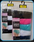 5 Pack Ladies Brazilian Stretch 95% Cotton Briefs.With Lace From The Aucci Brand