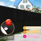 Black 4' 5' 6' 8' Tall Fence Windscreen Privacy Screen Shade Cover Fabric Mesh