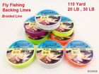 Rudder braided Fly Fishing Backing Line Leader Line  20LB 30LB 100 M 110 Yard