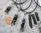 "1  ""Cage Wrapped"" Black Tourmaline/ Schorl- Raw crystal/mineral pendant necklace"