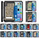 For Apple iPhone X / iPhone 10 Heavy Duty Armor Hybrid Stand Case w/ Card Slot