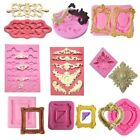 Внешний вид - Silicone Mold Different Vintage Mirror Frame Cake Fondant Mould Decorating Tools