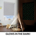 Glow In The Dark Light Grey Stars Blackout Thermal Roller Blind - Kids Bedroom