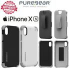 PureGear Dualtek Extreme Impact & HIP Case Holster For Apple iPhone X