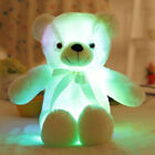 Stuffed Teddy Bear Light Led Up Glow Plush Toy Adorable Little Glowing Colorful