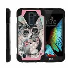 For LG K Series Phone Case Dual Layer Kickstand Cover Cute Animals
