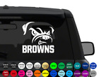 Cleveland BROWNS DOG sticker for car, laptop,yeti CHOOSE COLOR die cut vinyl $18.99 USD on eBay
