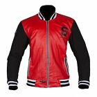SPADA CAMPUS RED BLACK 60'S BASEBALL STYLE USA COLLEGE MOTORCYCLE JACKET
