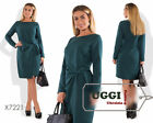 Business style Wrap Woman Dress Suiting fabric Knee-Length Long Sleeve- Plus siz