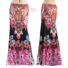 Women's LONG SKIRT Floral Boho Black Pink maxi (S/M/L/XL/1XL/2XL/3XL)