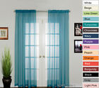 New Elegant Sheer Voile Curtains Rod Pocket 280w X 213 230l Two Panels