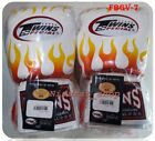 twins sparring gloves - TWINS BOXING GLOVES FBGV-7 FANCY WHITE FLAME SPARRING MUAY THAI MMA LEATHER