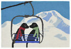 "AREA RUGS - ""SKI GET AWAY"" LABRADOR RETRIEVER RUG - HAND TUFTED RUG"