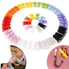 50 KAM Clips Pacifier Clips Soother Dummy Bib Suspender Paci Toy Holder BPA Free