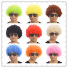 Halloween Black Brown Blonde Red Blue White Pink Curly wig Fancy Dress Costume