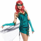 Lady Lethal Beauty Poison Ivy Costume Green Ivy Trim Carnival Fancy Dress Outfit