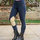 Micro Breeches - Ladies Horse Riding Yard Knee Patch Self Seat Super Stretch