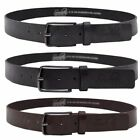Soulstar Polished Buckle Leather Belt  Mens Size
