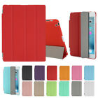 """Slim Leather Smart Cover Back Case For Apple Ipad 2 3 4 Mini&air& 2017 9.7"""" Lot"""