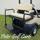 Rear Flip Seat Kit For Club Car Precedent Golf Carts In Black White or Beige