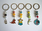 Girls Kids, Owl Lion King Tinkerbell Moana Despicable Me Keyring, Bag Charms