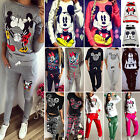 Women's Mickey Minnie Hoodies Sweatshirt Top Pants Set Tracksuit Sports Gym Wear