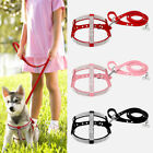 Bling Rhinestone Step-in Pet Dog Harness and Leash Suede for Medium Large Dogs