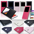 FLIP S-VIEW CASE COVER FOR SAMSUNG GALAXY NOTE 3 N9000 N9005 FREE SCREEN GUARD
