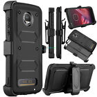 For Motorola Moto Z2 Force / Z2 Play Hybrid Rugged Clip Holster Stand Armor Case