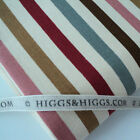 Linen Look Cotton - Oxford Stripe - Red / Pink / Grey - Fabric by the Metre
