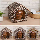 Pet Dog Cat House Igloo Bed Dual Use Windproof Warm Puppy Dog Cat Beds Kennels