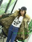 Luxury Fur Hooded Women Winter Snow Coat Jacket With Nature Fur Lined Parka S-XL