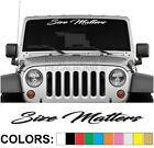"Size Matters ""Script"" Windshield Decal Sticker Vinyl Banner Diesel Turbo UTV ATV"