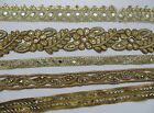 Mirror Beads Embroidery Indian Sari Border Lace Ribbon Trim Ethnic Craft 1 Feet