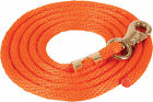 Solid Poly Lead Rope with Bull Snap 9 feet  - 11 Colors available NEW